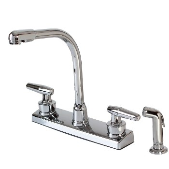 Kitchen Faucet W/Spray ~ High Rise, Non-Metallic