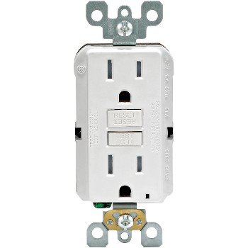 GFCI Receptacle, White ~ 15 Amp