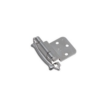 Inset Hinge - Self Closing - Sterling Nickel Finish - 3/8 inch