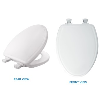 Mayfair Elongated Molded Wood Toilet Seat, White