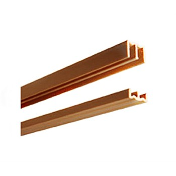 "Plastic Door Track Set, Tan ~  1/4"" x 48"""
