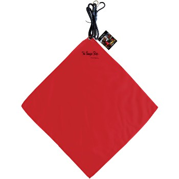 "Bungee Safety Load Flag,  Red ~ 18"" x 18"""