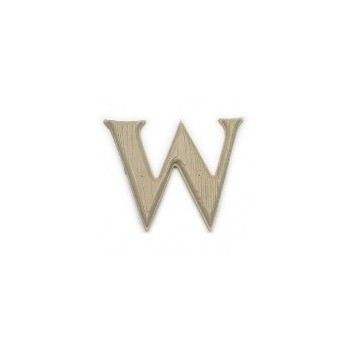House Letter W,  Simulated Wood-Grain Letter ~ 7""
