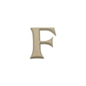 House Letter F,  Simulated Wood-Grain Letter ~ 7""