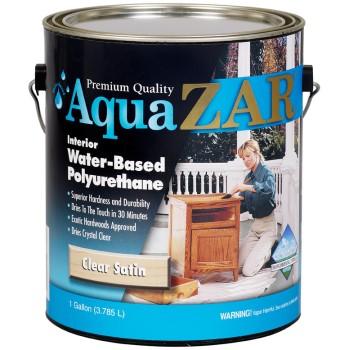 ZAR/UGL 32513 Aqua ZAR Interior Water-Based Polyurethane Stain,  Clear Satin  ~ Gallon