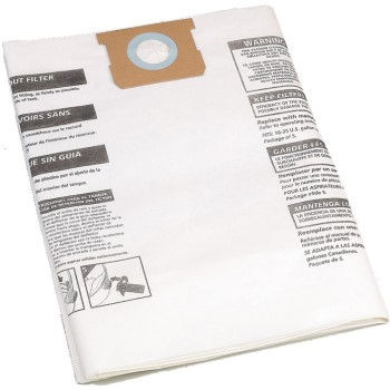 Shop Vac 9066300 Type F Filter Bags ~ 15-22 Gallon