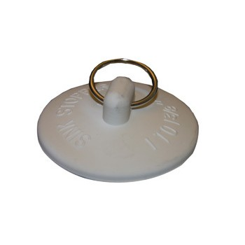 Larsen 02-3231 Fits-All Sink Stopper, White - 1