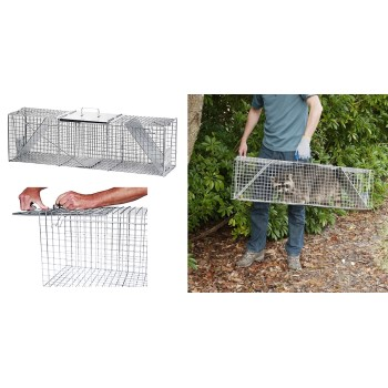 "Havahart East Set 2 Door XLarge Critter  Humane Trap ~  42"" x 10"" x 13"""