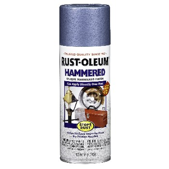 Rust-Oleum 7212830 Hammered Finish-Stops Rust,  Light Blue ~ 12 oz Spray Cans