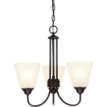Galveston Chandelier, 3 Light ~ Black