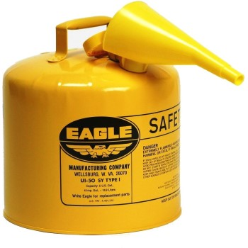Eagle UI-50-FSY Yellow Safety Fuel Can, Type 1 ~ Five Gallon