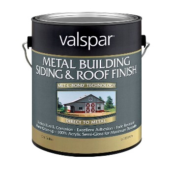 Valspar 27-0004260-07 Metal Siding & Roof Finish, Brite White ~ Gallon