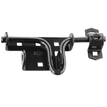 National  Solid Black Sliding Bolt Latch