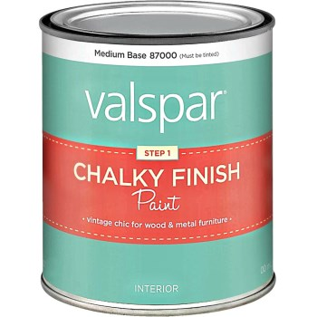 Chalky Finish Paint Med. Base ~ Qt.