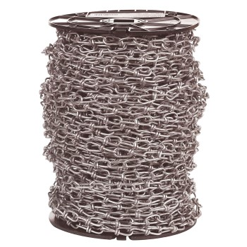 Campbell Chain 072-0127 Double Loop Chain ~ #1 x 250 Ft