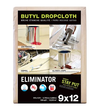 Eliminator Butyl Dropcloth ~  9 Ft x 12 Ft