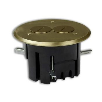 Allied Moulded Prods FB-3 Brass Round Floor Box