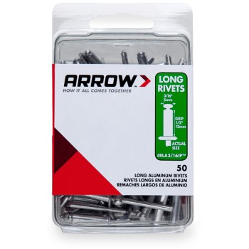 Rivets - Long Aluminum - 3/16 inch