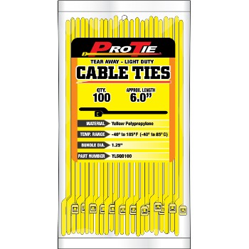 Cable Ties ~ 100 Per Pack - 6""