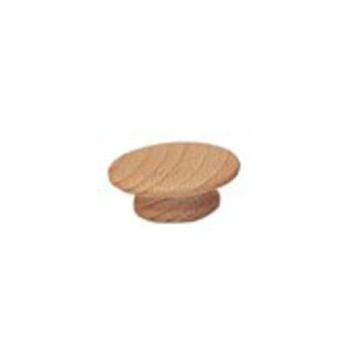 Round Wood Knob, 1 - 1 / 4 inches.