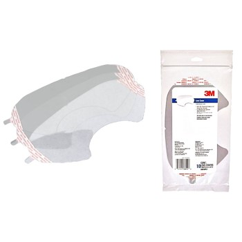 3M 6885PC1-B10 Full Face Respirator Lens Shield Covers