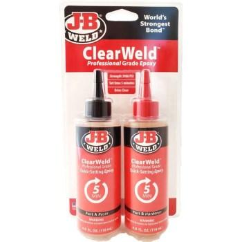 J-B Weld 50240 8oz Clearweld Pro