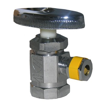 "Larsen 06-7271 Angle Stop Valve, 1/2""  FIP x 1/4"" OD Compression 06-7271"