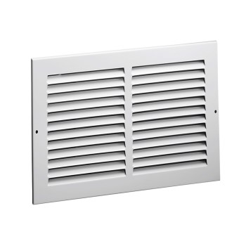 "Side Wall Return Air Grille, White ~ 12"" x 12"""