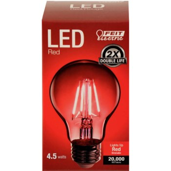 Red A-Shape Bulb