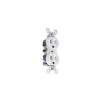 Grounded Duplex Receptacle ~ Ivory