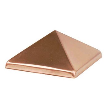 "Copper Pyramid Post Cap ~ 4"" x 4"""