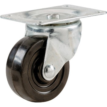Swivel Casters, Rubber Wheel ~ 3""