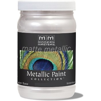 Matte Metallic Paint ~ Oyster, 6 oz