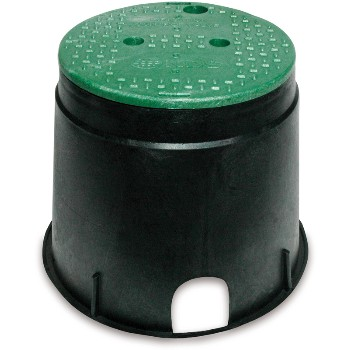 "Round Irrigation Control Box ~ 10"" Round"