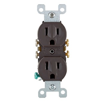 Leviton 302-5320-CP 302-5320cp Ground Outlet