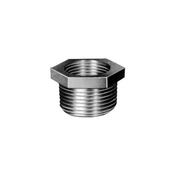 Hex Bushing - Black Steel - 3/4 x 1/2 inch