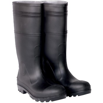 PVC Rainboots,  Black ~ Size 10 Mens