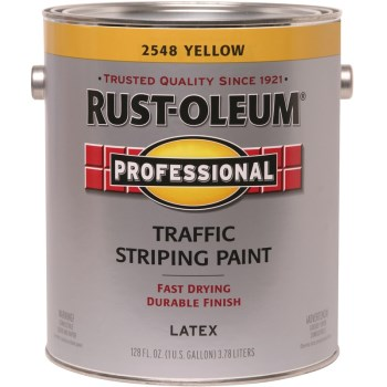 Traffic Striping Paint, Yellow ~ Gallon