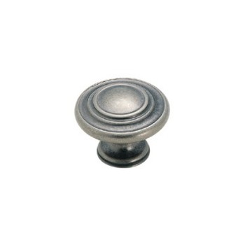 Knob - Weathered Nickel Finish - 1 3/8""