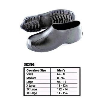 Tingley Rubber   1300.LG Rubber Overshoe, Black Size Large