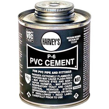 PVC Cement, P-6 Medium Body ~ 32 oz