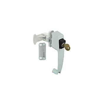 White Keyed Pushbuttn Latch, Visual Pack 1317