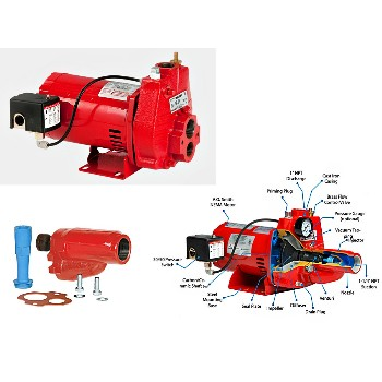 Red Lion Convertible Jet Pump, RJC75 ~ 3/4 HP