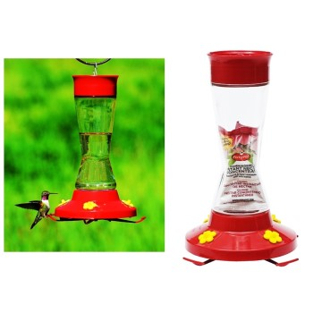 Pinch Waist Glass Hummingbird Feeder ~ 16 oz Capacity