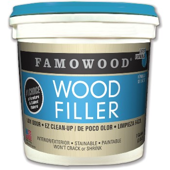 Wood Filler,  Solvent Free - Walnut ~ Gallon