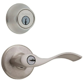Kwikset 96900-376 Tylo Combo Lockset - Lever and Deadbolt ~ Satin Nickel