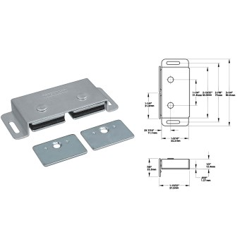 National N710-520  Double Magnetic Cabinet Catch ~ MPB45 Series