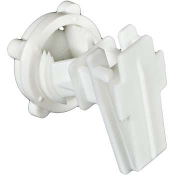 Poly Tape Round Post Insulator ~ White