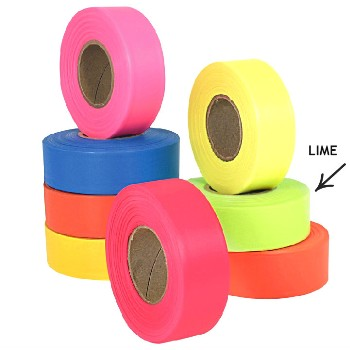Flagging Tape - Lime - 1 inch x 150 feet