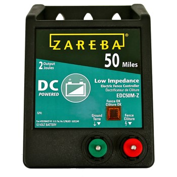 Zareba 50 Mile 12 Volt Battery Operated  Low Impedance Fence Charger